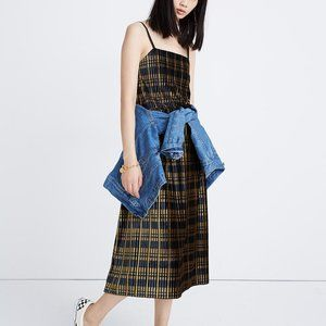 [NWT] Madewell Pleated Cami Top in Plaid